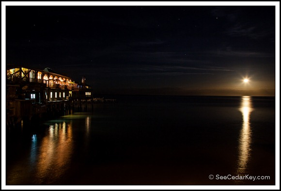 Cedar Key Moonrise