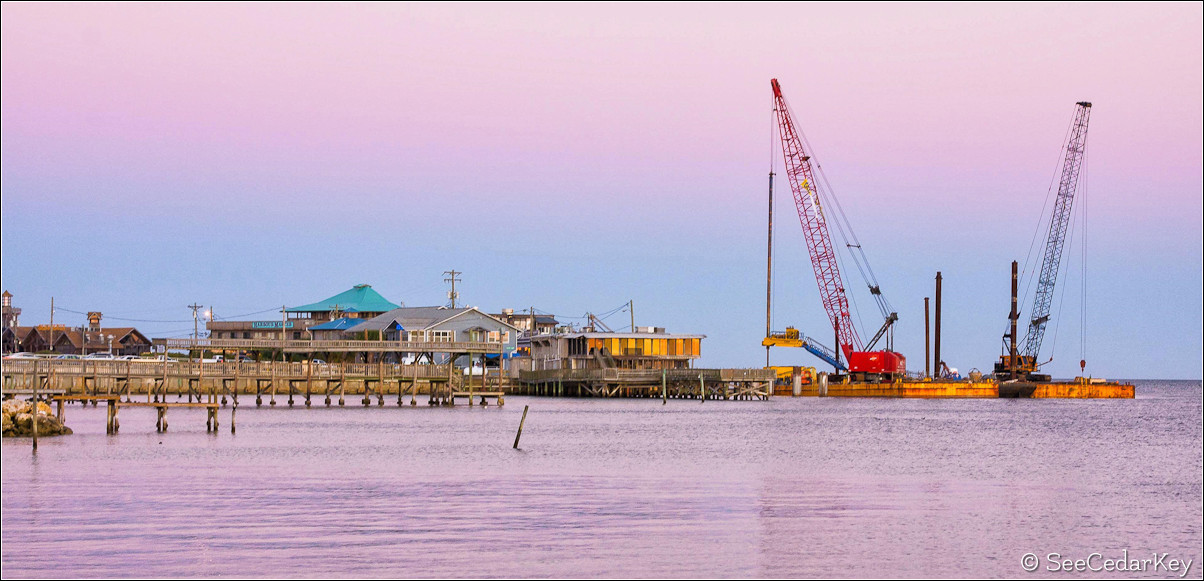 Cedar Key pier construction
