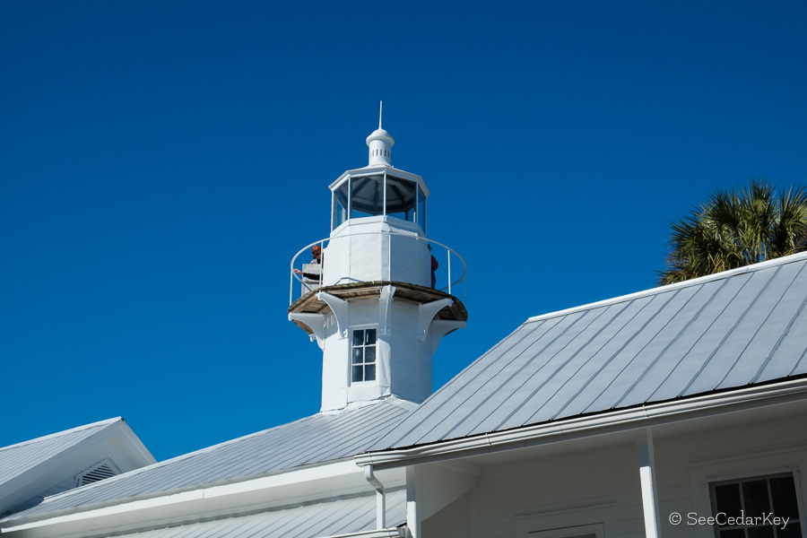 A shot of the lighthouse at Seahorse Key, Cedar Keys Florida