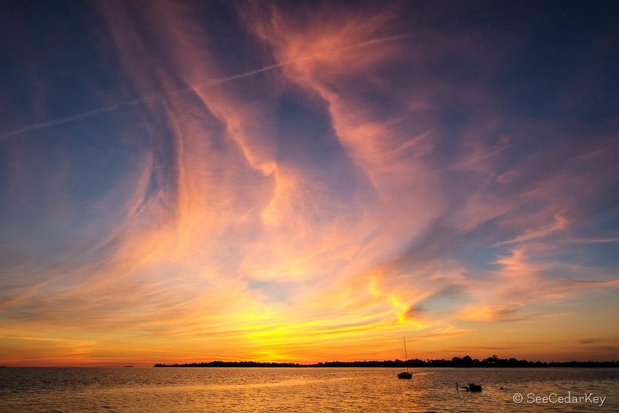 Cedar Key Sunset 021513-3