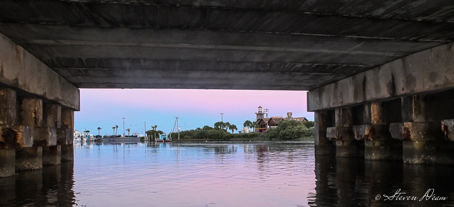 Under the C Street bridge in Cedar Key