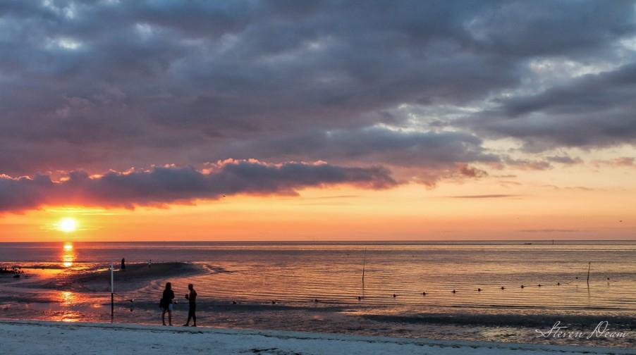 Taking in the sunrise in Cedar Key
