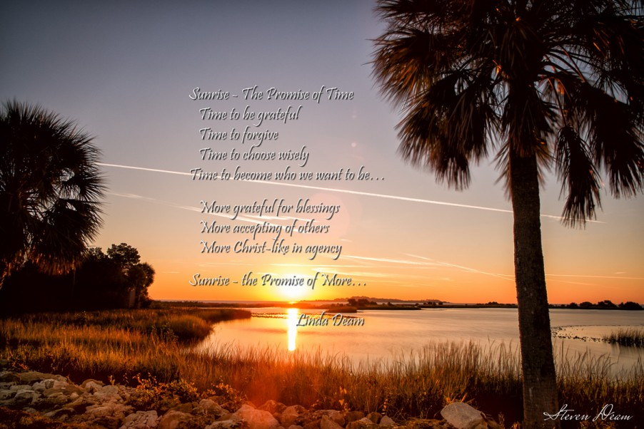 Cedar Key Sunrise with a poem