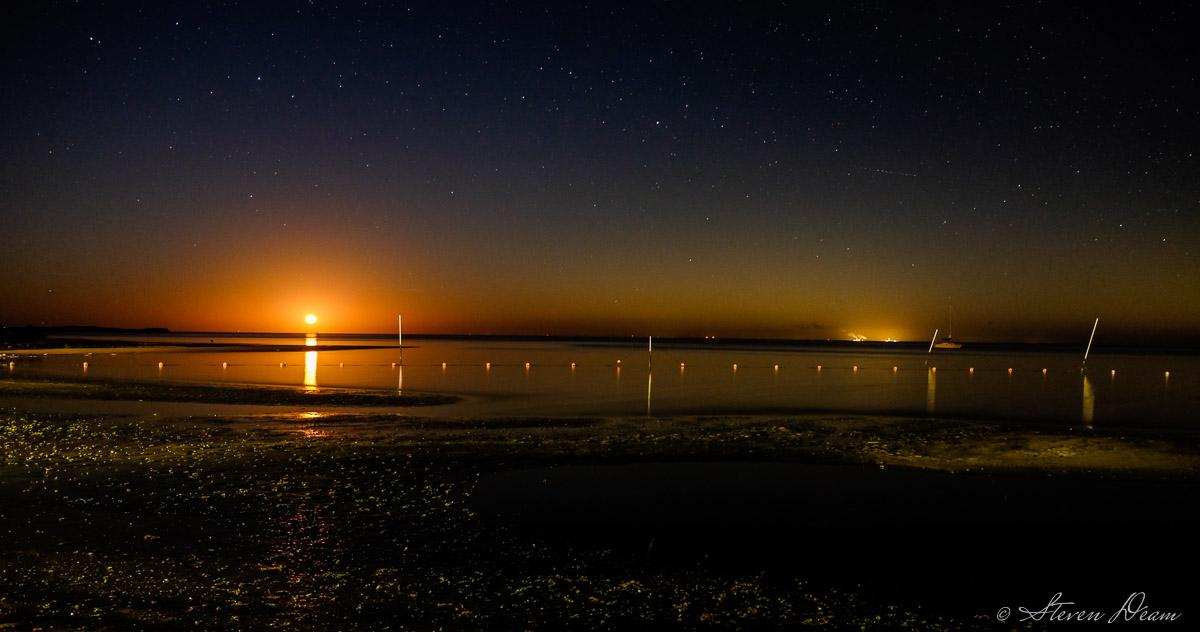 Moonrise over the Cedar KEy beach