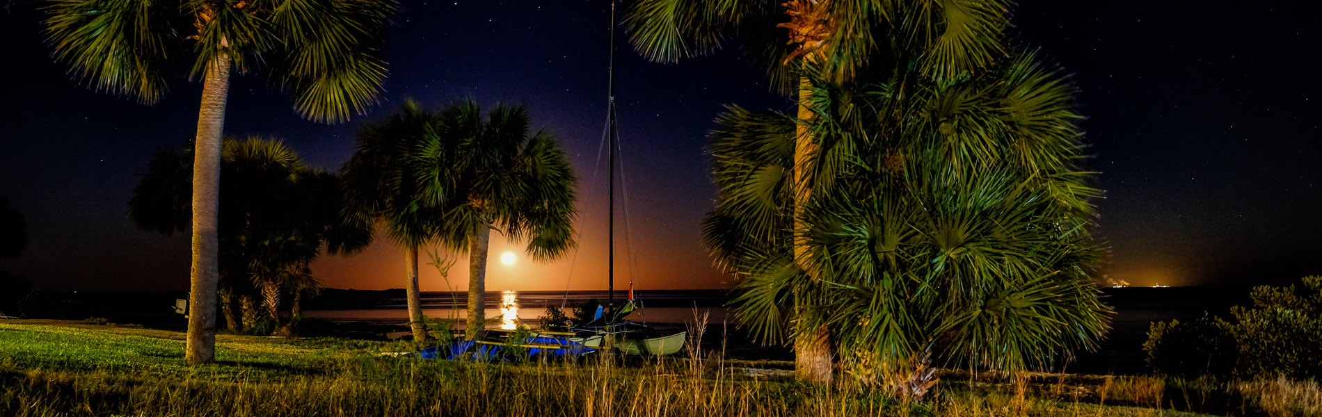 Moonrise over Cedar Key