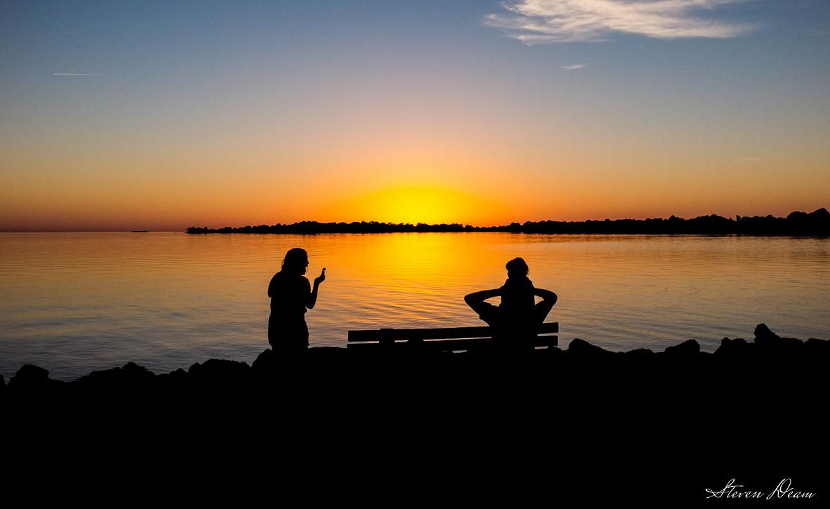 Cedar Key Sunset Silhouette