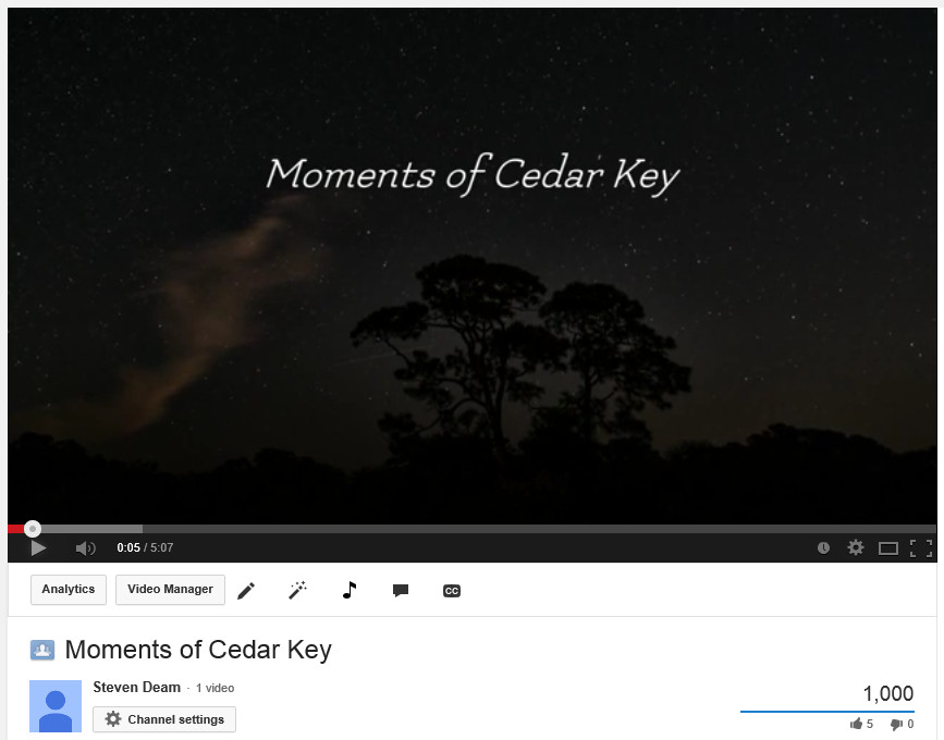 Cedar Key poem video