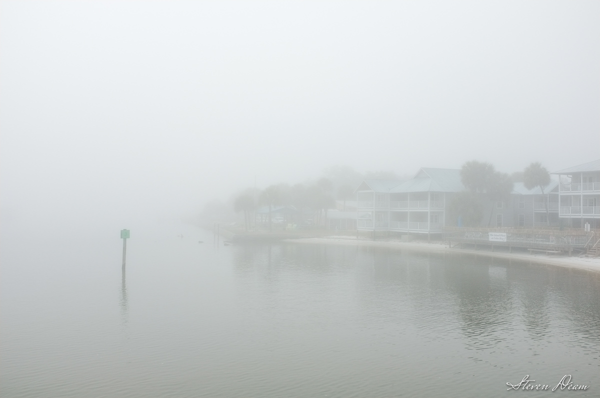 Fog in cedar Key