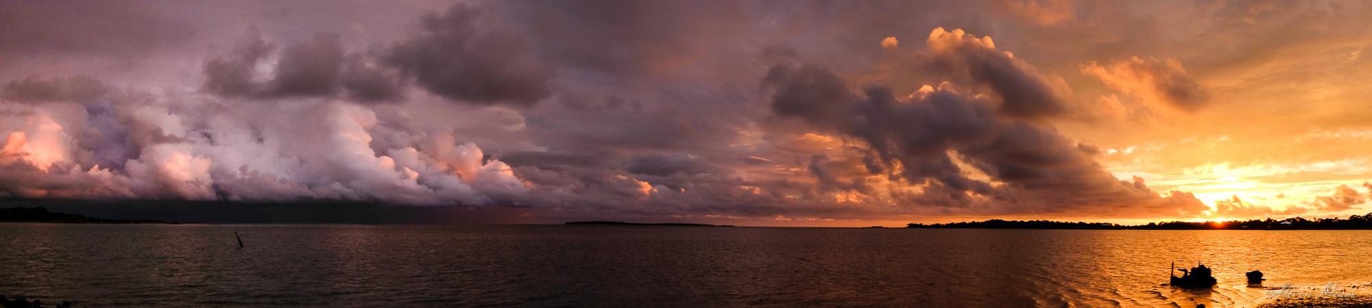 Sunset over Cedar Key