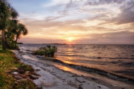 Sunrise over Cedar Key