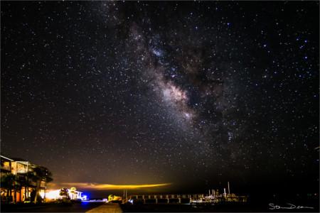 Milky Way over Cedar Key